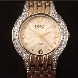 DMQ gold CZ watch